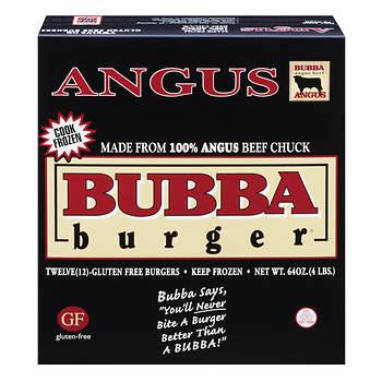 Angus Beef BUBBA Burger, 12 pk./5.3 oz.