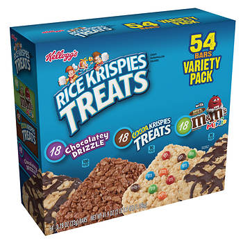 Kellogg Rice Krispies Treats Variety Pack, 54 ct.