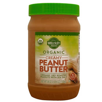 Wellsley Farms Organic Creamy Peanut Butter, 36 oz.