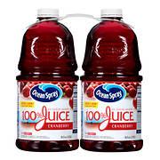 Ocean Spray 100% Cranberry Juice, 2 pk./96 oz.