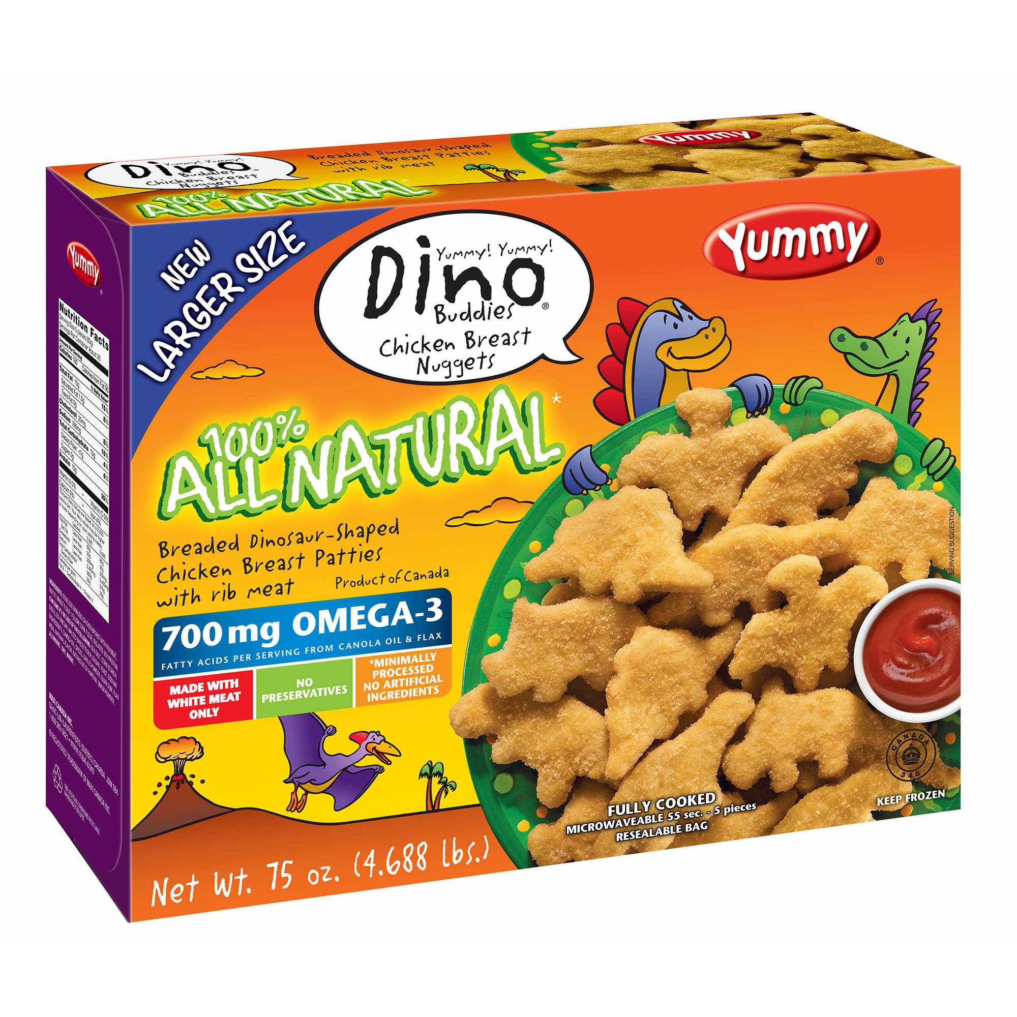 Yummy Dino Buddy All Natural Nuggets, 5 Pk./75 Oz.