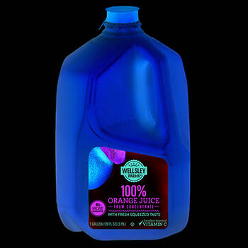 Wellsley Farms 100% Orange Juice from Concentrate, 1 Gal.