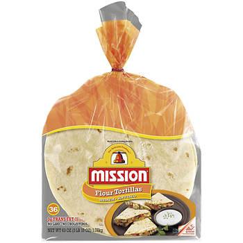 Mission Soft Taco Medium Size Flour Tortillas, 18 ct., 2 Bags