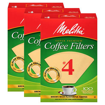 Melitta #4 Cone Coffee Filters, 300 ct.