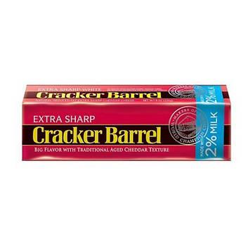 Cracker Barrel 2 Percent Milk Extra Sharp Cheddar Cheese, 24 oz.