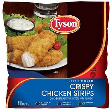 Tyson Fully Cooked Crispy Chicken Strips, 3 lbs.