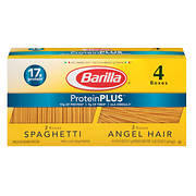 Barilla Plus Spaghetti and Plus Angel Hair, 4 pk./14.5 oz.