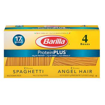 Barilla Plus Spaghetti and Plus Angel Hair, 14.5 oz.- 4 pk.