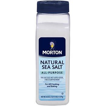 Morton All-Purpose Natural Sea Salt with Pour Spout, 26 oz.
