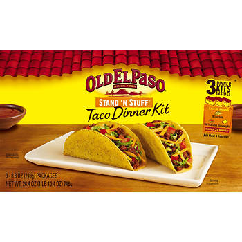 Old El Paso Stand 'N Stuff Taco Dinner Kit, 3pk.