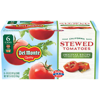 Del Monte California Original Recipe Stewed Tomatoes, 14.5 Oz., 6-Pk