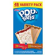 Kellogg's Pop Tarts Strawberry and Brown Sugar Variety Pack, 48 ct.