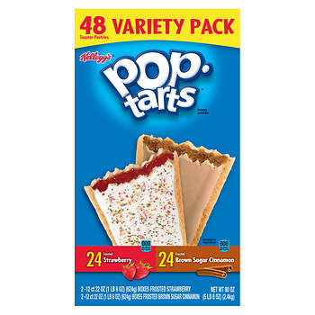 Kellogg's Pop Tarts Strawberry and Brown Sugar Variety Pack, 48 ct.