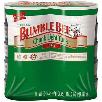 Bumble Bee Chunk Light Tuna in Oil, 10 pk./5 oz.