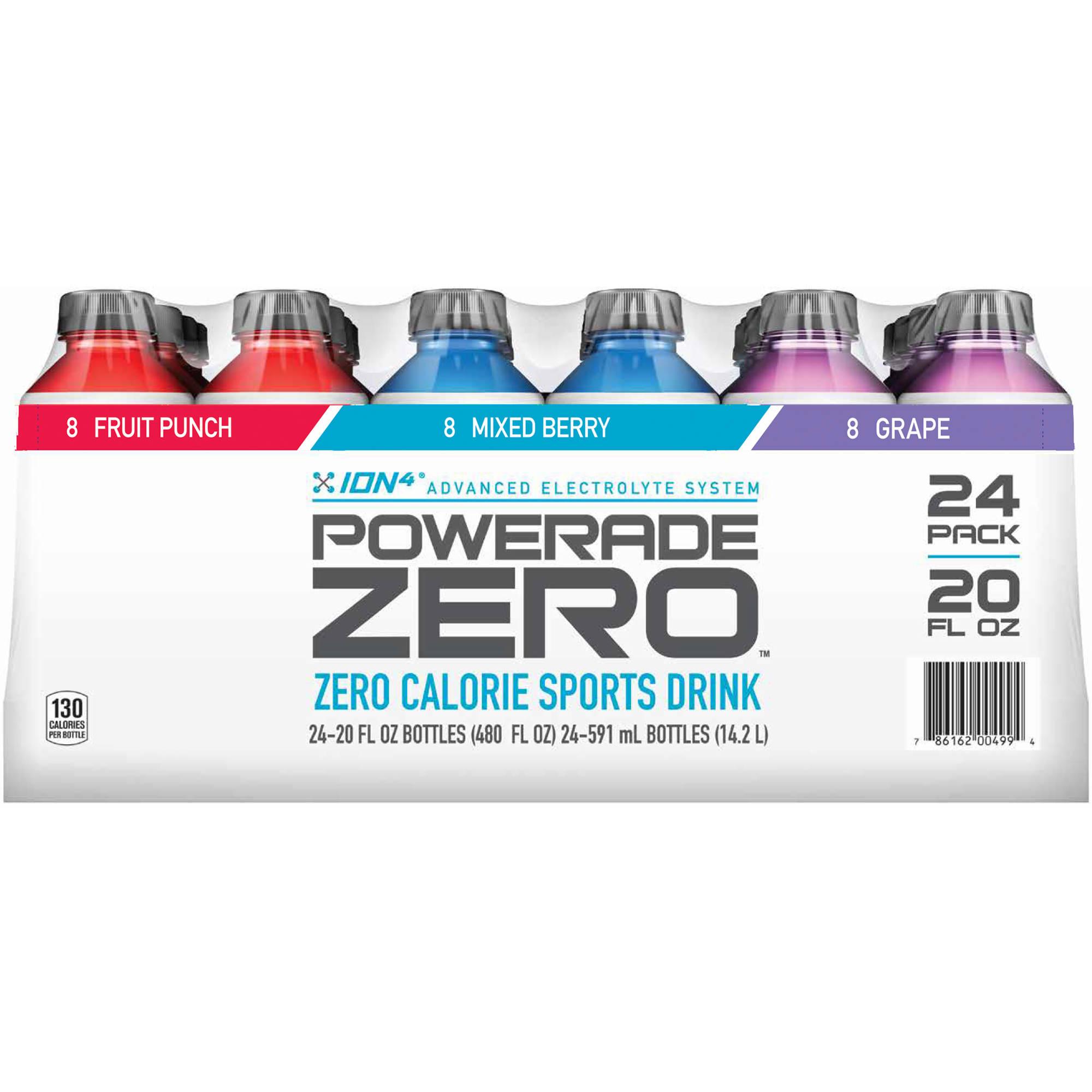 Powerade zero calorie sports drink 24 ct 20 oz bj 39 s for Cocktail 0 calorie