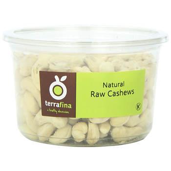Terrafina Raw Cashews, 16 ct./11.5 oz.
