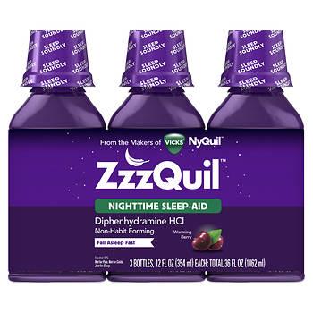 ZzzQuil Nighttime Sleep-Aid Liquid Warming Berry Flavor, 36 oz.
