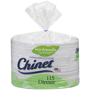 "Chinet 10"" Dinner Plates, 115 ct. - White"