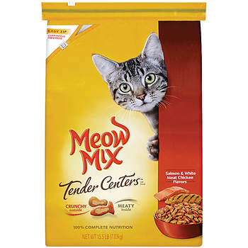 Meow Mix Tender Centers Salmon & White Meat Chicken Flavor Dry Cat Food, 15.5 lbs.