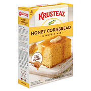 Krusteaz Natural Honey Cornbread and Muffin Mix, 60 oz.