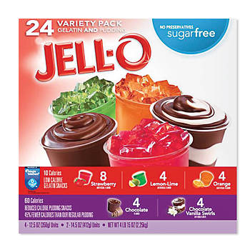 Jell-O Sugar Free Dessert Cups Variety Pack, 24 ct.