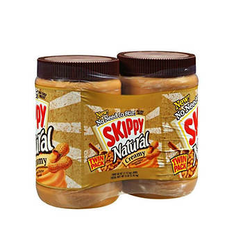 Skippy All Natural Peanut Butter, 48 oz., 2 ct.