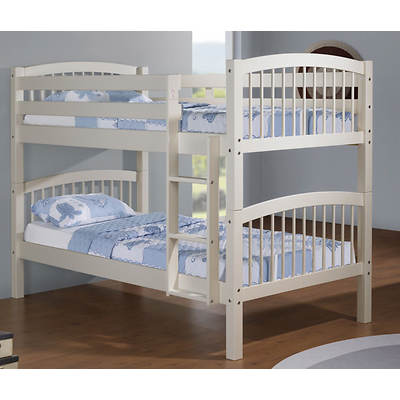 Linon Twin-Size Convertible Bunk Bed - White