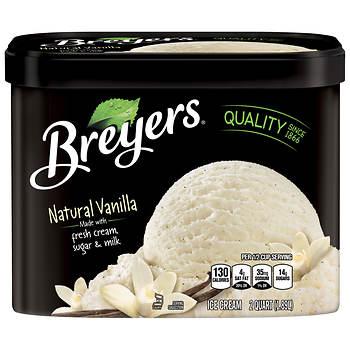 Breyers Natural Vanilla Ice Cream, 64 oz.