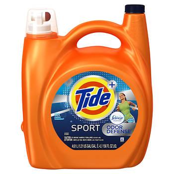 Tide Plus Febreze Freshness HE High Efficiency Spring & Renewal Scent Liquid Laundry Detergent, 156 oz.