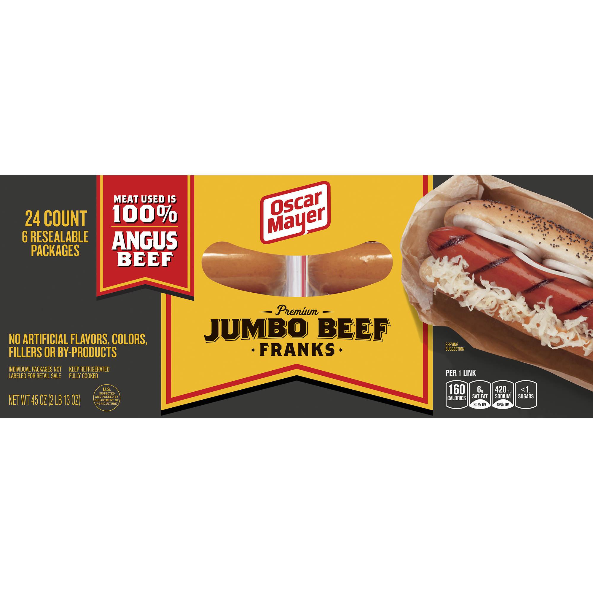 oscar mayer premium beef jumbo hot dogs 6 pk 45 oz bj. Black Bedroom Furniture Sets. Home Design Ideas