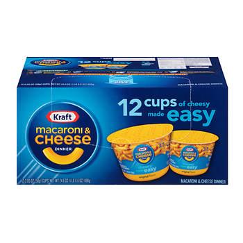 Kraft Macaroni & Cheese Cups, Original Flavor, 12 ct.