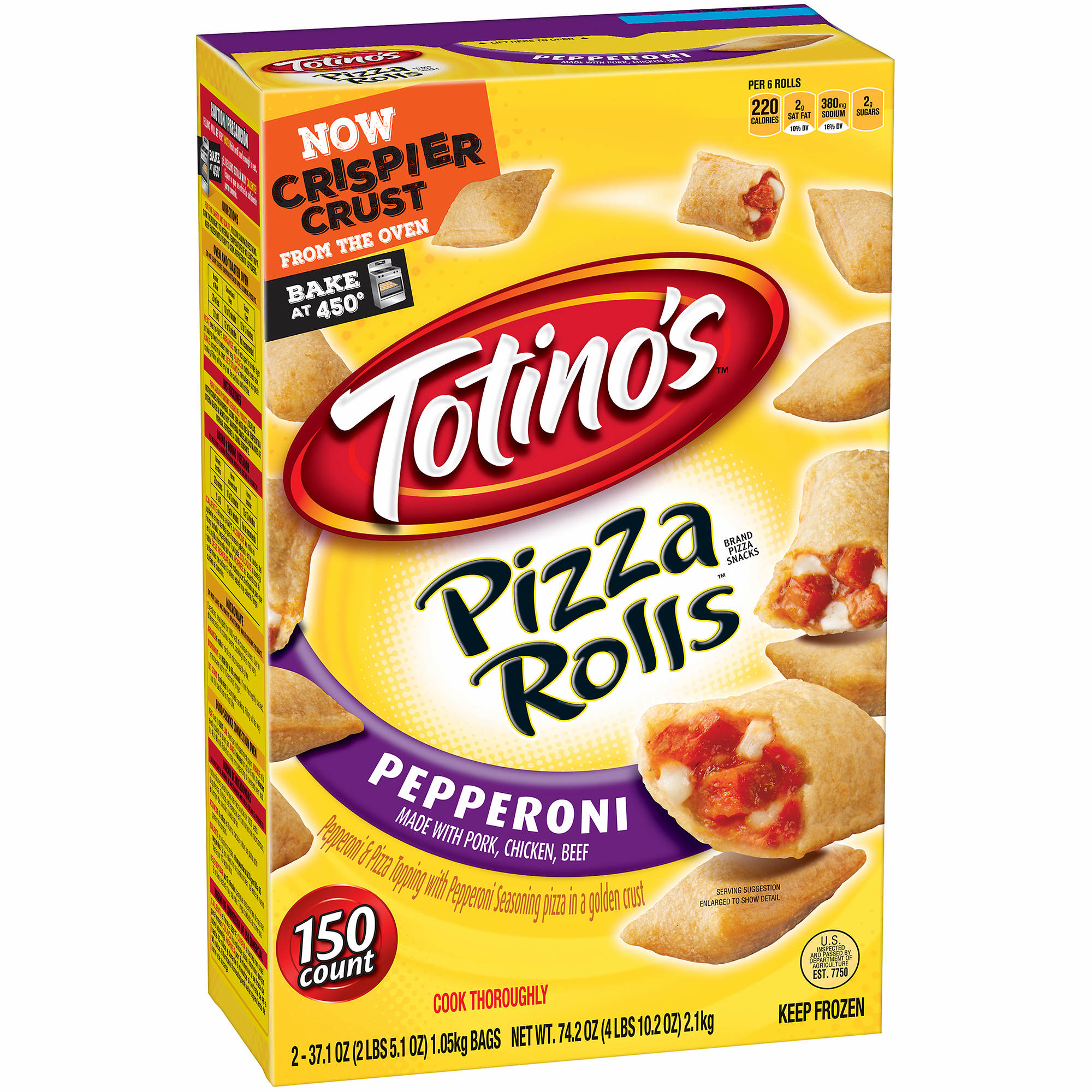 Totino's Pepperoni Pizza Rolls, 150 ct. - BJ's Wholesale Club
