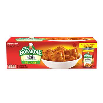 Chef Boyardee Cans, Beef Ravioli, 10 pk.