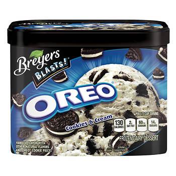 Breyers Blasts! Oreo Cookies & Cream Ice Cream, 64 oz.