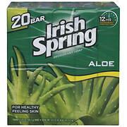Irish Spring Aloe Bar Soap, 20 ct./3.75 oz.