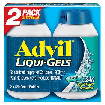 Advil Liqui-Gels, 2 pk./120 ct.