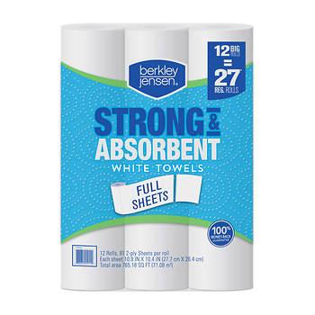 Berkley Jensen Choose-a-Size Ultra White Paper Towels, 12 pk.