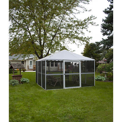 "Casita White 11'7""l x 11'7""w Square Screenhouse"