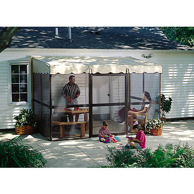 "Patio-Mate Chestnut 11'6""l x 7'8""w Screened Enclosure"