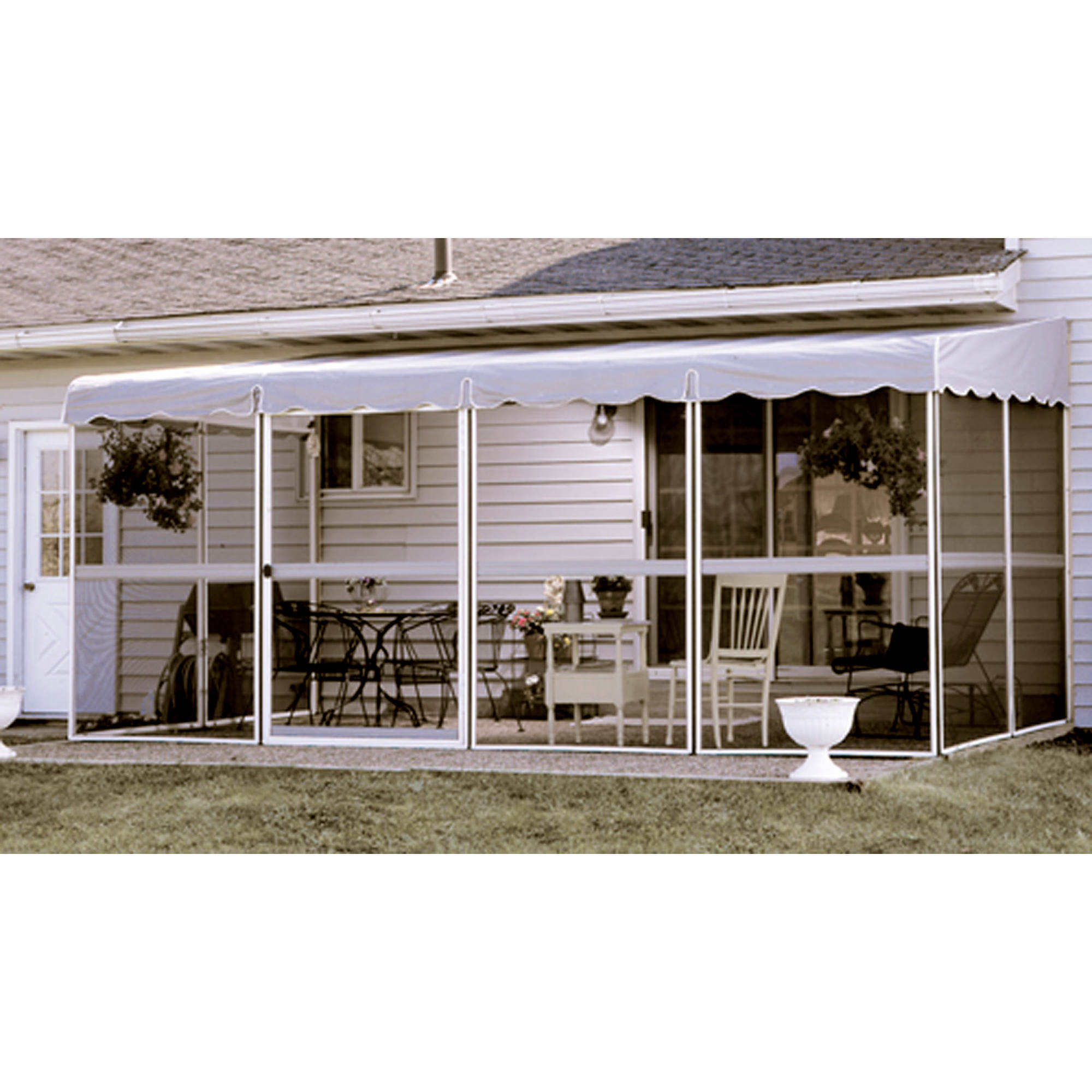 patio mate white 17 39 1 x 8 39 6 screened enclosure bj 39 s