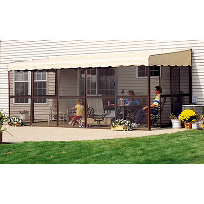 "Patio-Mate Chestnut 19'3""l x 7'8""w Screened Enclosure"
