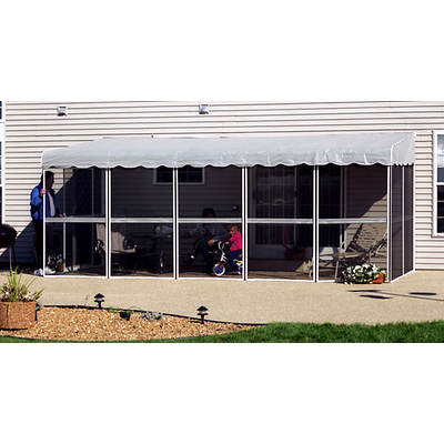 "Patio-Mate White 19'3""l x 7'8""w Screened Enclosure"