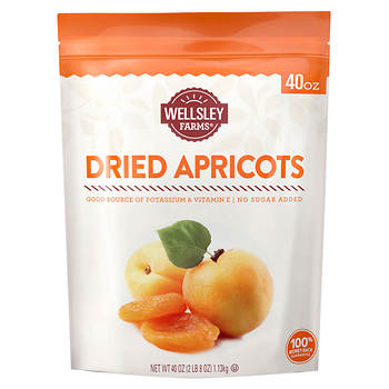 Wellsley Farms Gourmet Dried Apricots, 40 oz.