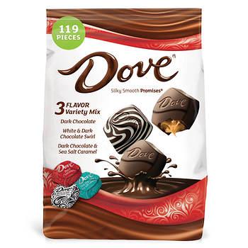 Dove Dark Chocolate Variety Stand-Up Bag, 34 oz.