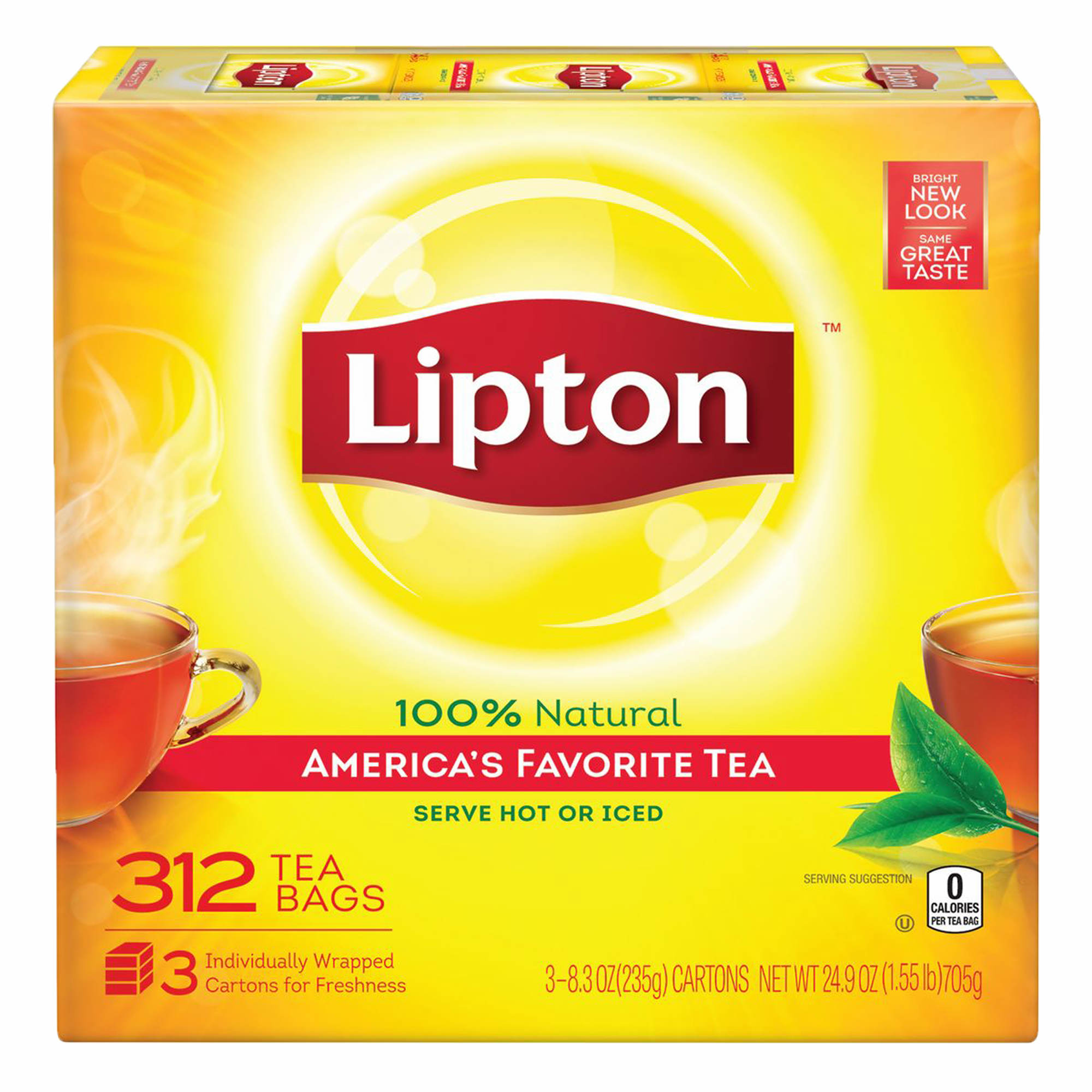 Lipton decaffeinated tea is crafted with only % real tea leaves, fresh and high-quality, which are decaffeinated with pure spring water and effervescence for a naturally uplifting taste.