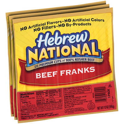 Hebrew National Beef Franks, 12 Oz., 3-Pk.