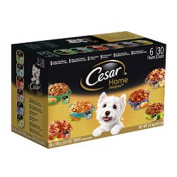 Cesar Home Delights Dog Food Variety Pack, 30 pk./3.5 oz.