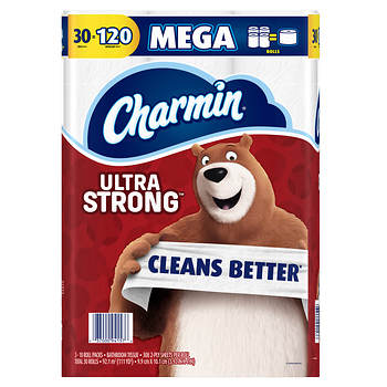 Charmin Ultra Strong Toilet Paper, 30 Mega Rolls