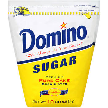 Domino Premium Pure Cane Granulated Sugar, 10 lbs.