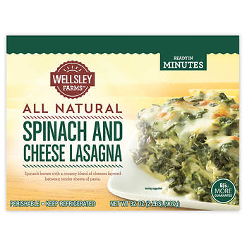 Wellsley Farms Spinach and Cheese Lasagna, 32 oz.